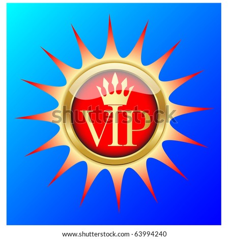 Golden VIP icon.