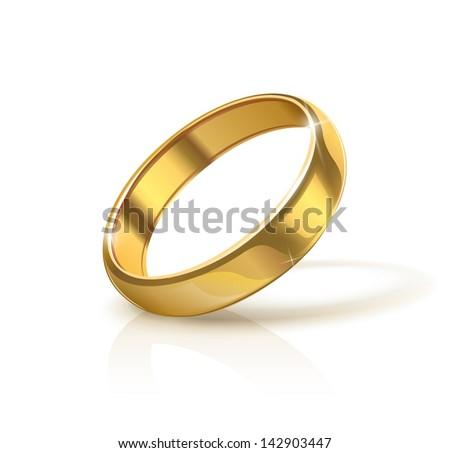 golden wedding ring vector