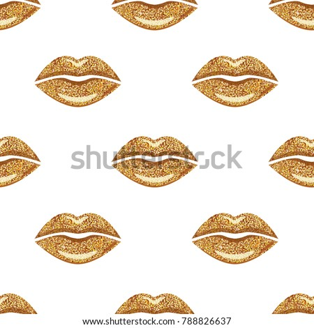 golden woman lips background