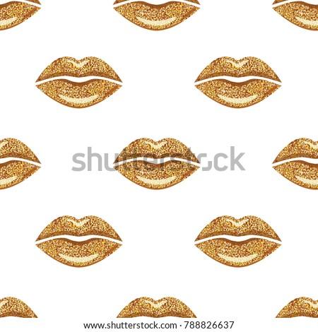 golden woman lips background