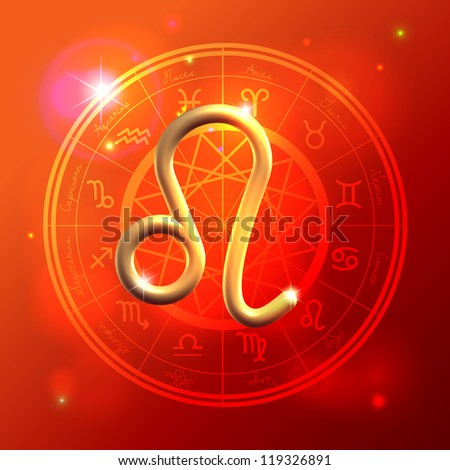 Golden Zodiac decorative vector background