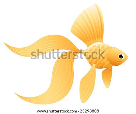 cute goldfish cartoon. stock vector : Goldfish.