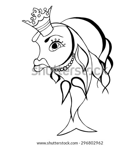 goldfish fairy with crown