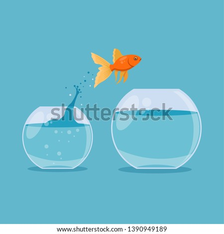 goldfish jumping out one