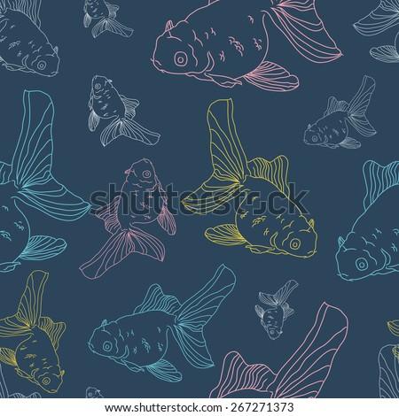 goldfish seamless vector