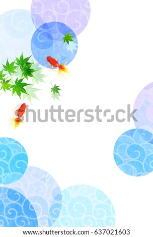 goldfish summer japanese paper