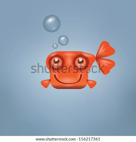 goldfish vector format