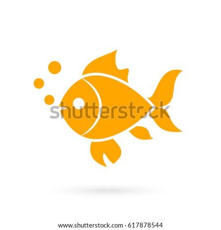 goldfish vector icon on white