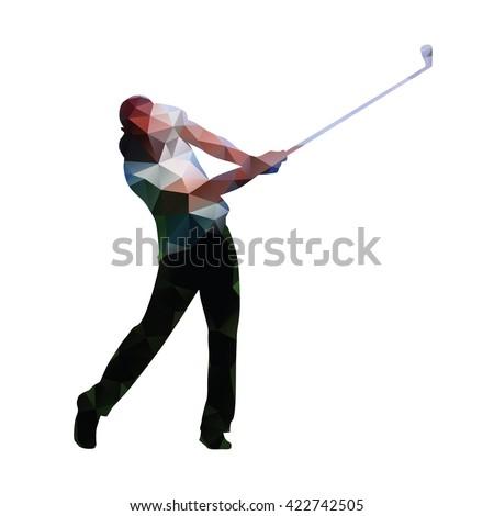 golf abstract geometric golf