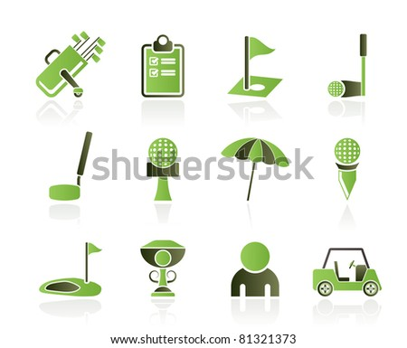 golf and sport icons - vector icon set