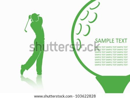 Golf background - vector illustration