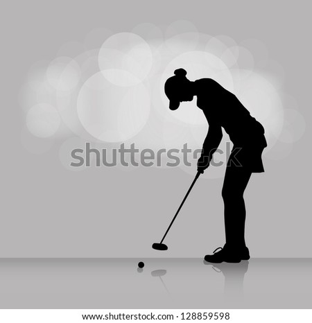 Golf background - vector illustration