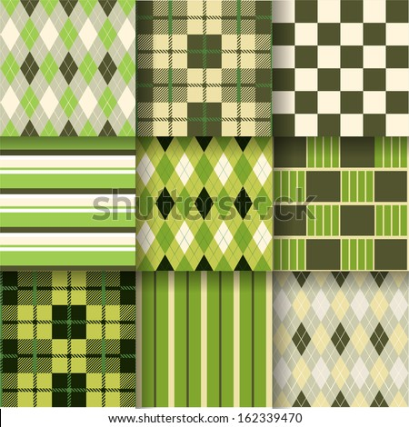 Golf backgrounds. Seamless pattern background. Vector illustration. Pattern Swatches made with Global Colors - quick, simple editing of color