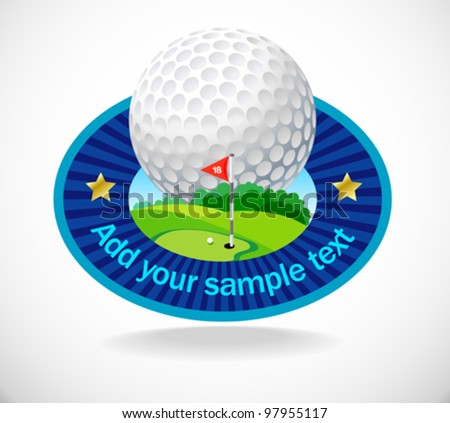 Golf Ball And Beautiful Golf Club