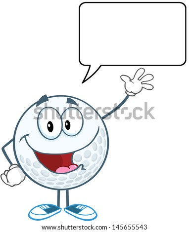 golf ball cartoon character