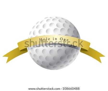 Golf ball hole in one award