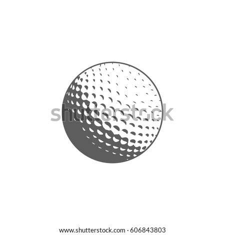 golf ball icon in trendy flat