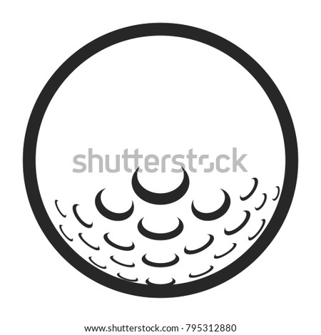 Golf ball icon on a white background, Vector illustration