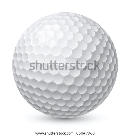Golf Ball. Illustration on white background for design