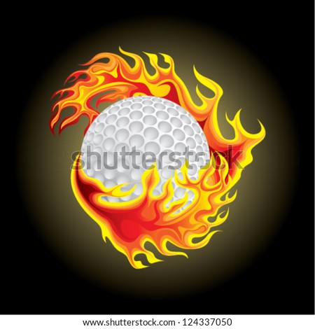 golf ball in flame