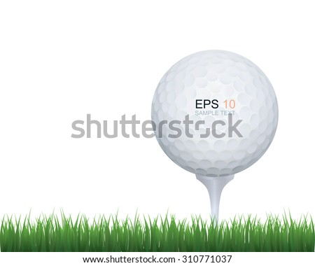 golf ball in green grass of