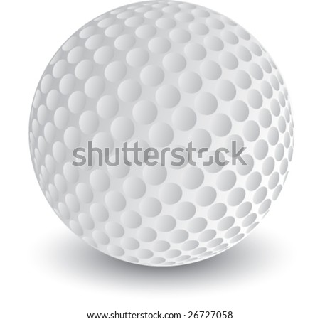 golf ball vector. stock vector : golf ball isolated