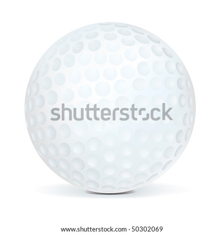 Golf Ball isolated on white background. Vector.