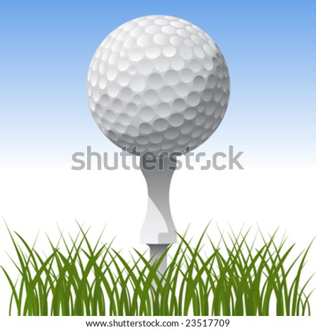 golf ball vector. stock vector : golf ball