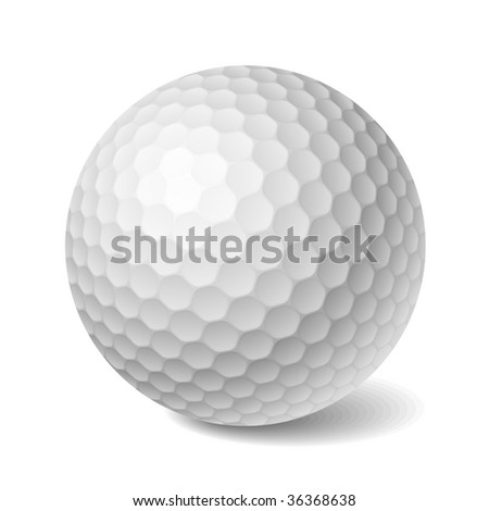 golf ball vector. stock vector : Golf ball.
