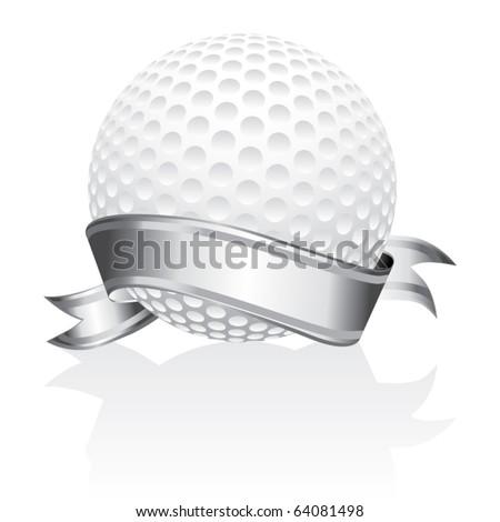 golf ball vector. stock vector : Golf ball