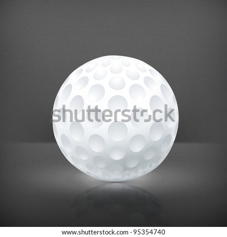 Golf ball, vector