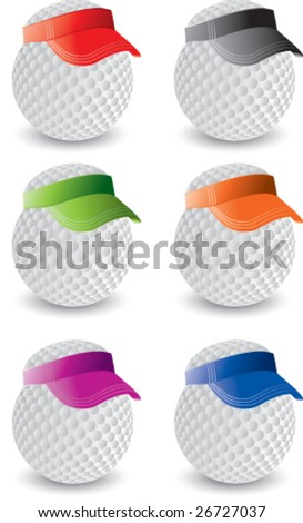 golf balls with hats