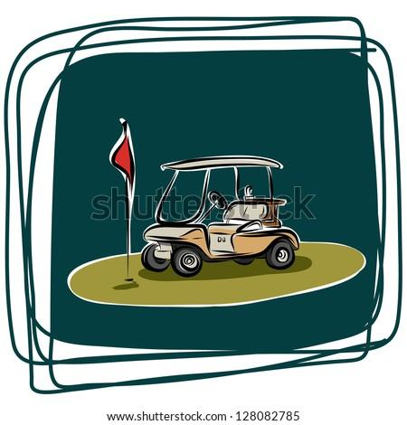 golf car   vector sketchbook