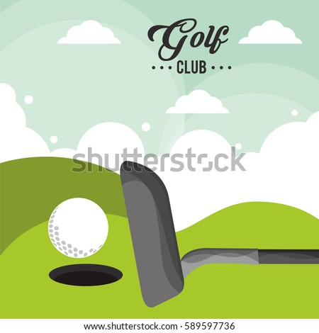 golf club ball field hole one