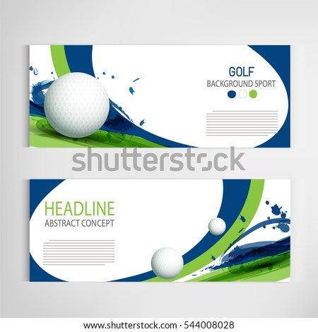 Shutterstock Golf club competition tournament template poster or banner vector design.