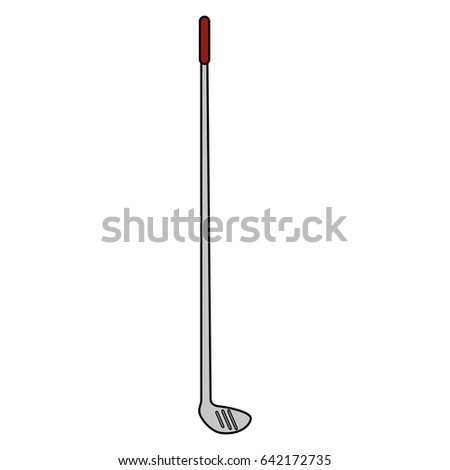 golf club isolated icon #642172735