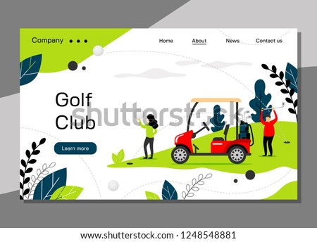 golf club landing page template
