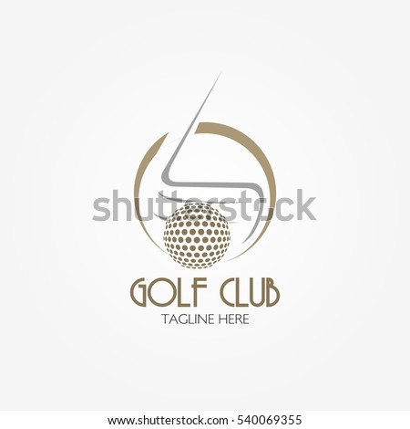 Golf Club Logo Design Template in Flat Style. Vector Illustration