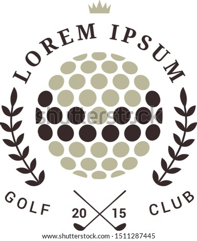 Golf club logo, Golf Clubs, vector retro styled sport emblems and labels