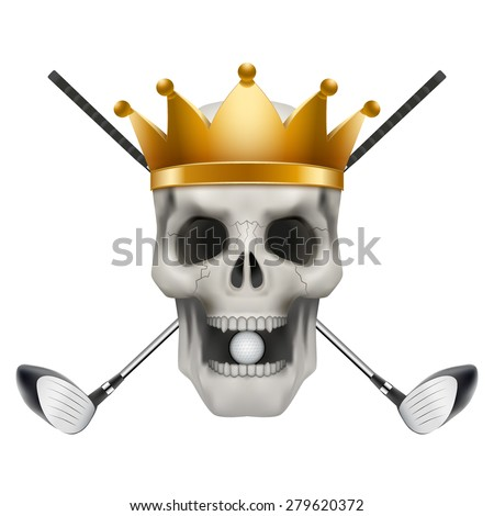golf club or team skull with