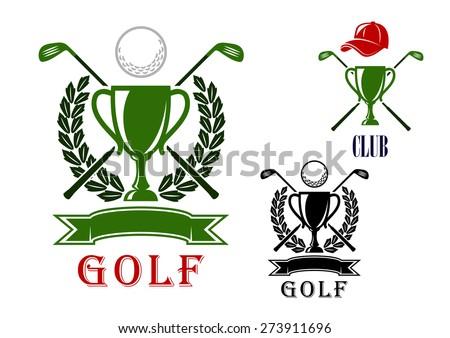 Golf Club Logo Golf Club or Tournament Emblem