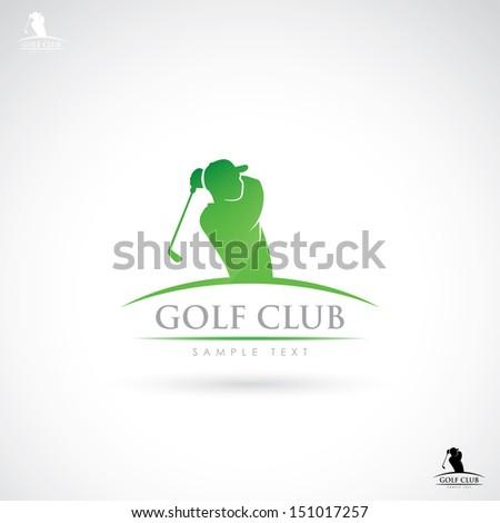 golf club sign   vector