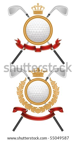 Golf coat of arms. Vector illustration.
