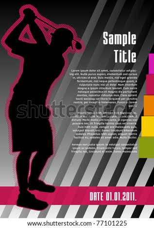 Golf concept poster template. Vector illustration.