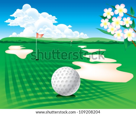golf course - stock vector