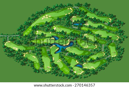 golf course map resort layout