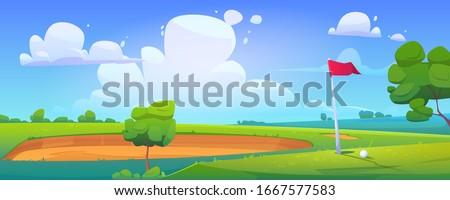 golf course on nature landscape