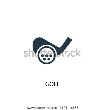 Golf creative icon. Simple element illustration. Golf concept symbol design from Sport collection. Can be used for web and mobile.