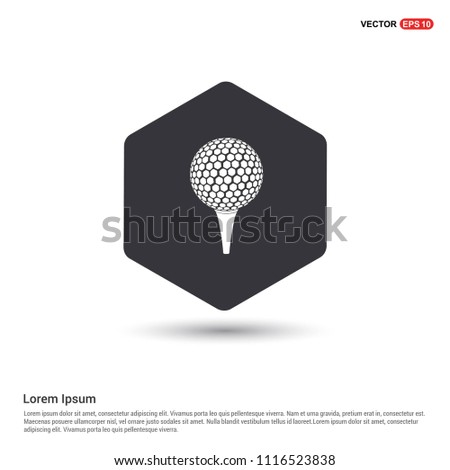 Golf crossed tees icon Hexa White Background icon template - Free vector icon