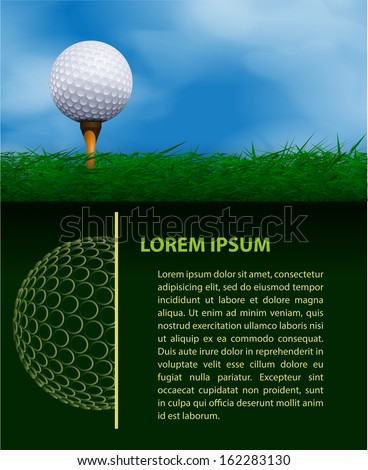 Golf design template